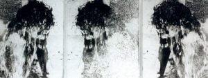 1996. Niño tríptico. Cubo de agua.