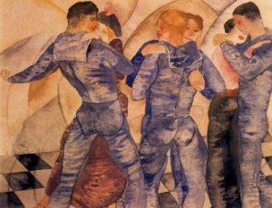 1917. Marineros bailando.