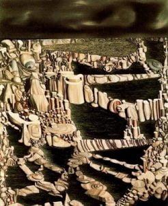 1954. Números imaginarios. Óleo sobre lienzo. 99x 80cm. Museo Thyssen- Bornemisza.