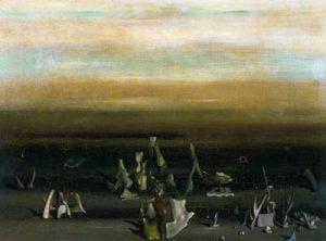 1956. Nid d´Amphioxus. Óleo sobre lienzo. 65 x 81 cm. Museo de Bellas Artes de Grenoble. Grenoble. Francia.